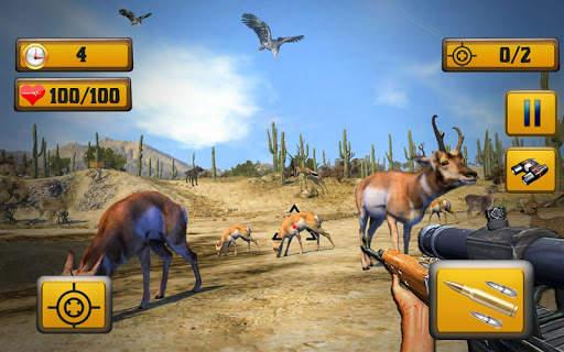 Wild Animal Shooting Screen Shot 0