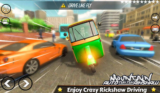 Mountain Auto Tuk Tuk Rickshaw : New Games 2021 Screen Shot 3