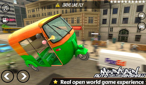 Mountain Auto Tuk Tuk Rickshaw : New Games 2021 Screen Shot 2