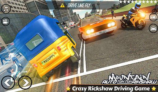 Mountain Auto Tuk Tuk Rickshaw : New Games 2021 Screen Shot 0