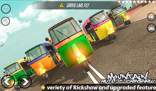 Mountain Auto Tuk Tuk Rickshaw : New Games 2021 Screen Shot 5