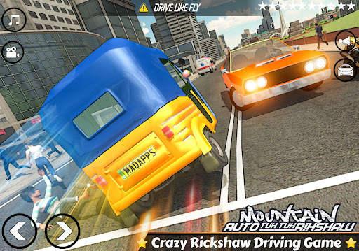 Mountain Auto Tuk Tuk Rickshaw : New Games 2021 Screen Shot 6