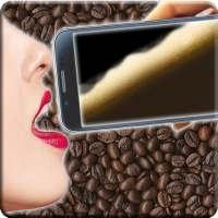 Drink virtual coffee prank