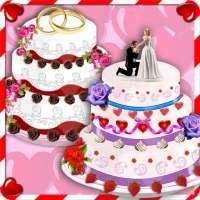 Rose Wedding Cake Maker Games
