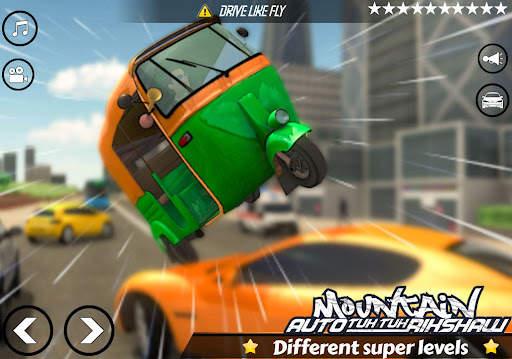 Mountain Auto Tuk Tuk Rickshaw : New Games 2021 Screen Shot 10