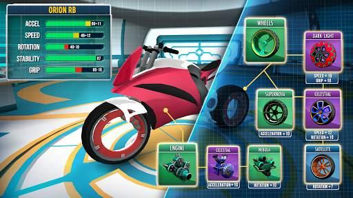 Gravity Rider: Extreme Balance Space Bike Racing Screen Shot 2