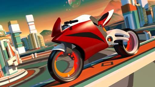 Gravity Rider: Extreme Balance Space Bike Racing Screen Shot 1