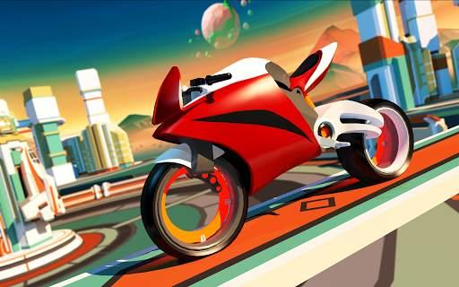 Gravity Rider: Extreme Balance Space Bike Racing Screen Shot 9