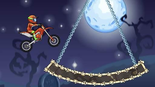 Moto X3M Bike Race Game Screen Shot 1