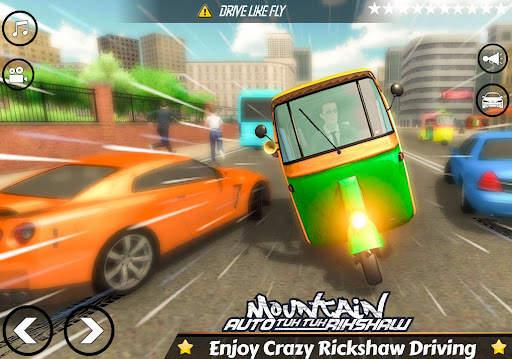 Mountain Auto Tuk Tuk Rickshaw : New Games 2021 Screen Shot 9