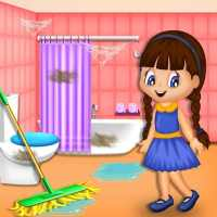 Girl Family House Cleaning: Room Cleanup Games