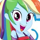 Dress up Fluttershy Rarity Rainbow Dash Pony Girl